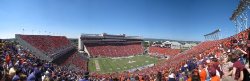 Lane Stadium Panoramic during the ECU vs VT Football Game