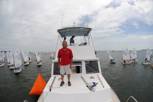 Jon on the Bow of Mr. Roberts at the 2010 USODA Layline Nationals