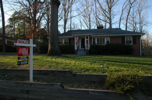 Sold sign on my house