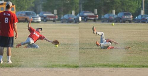 Softball Catch Miss