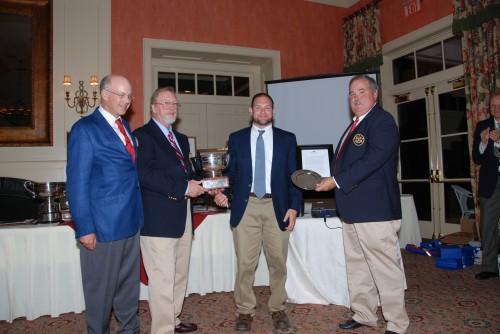 Jon Deutsch being presented with the Matthew Fontaine Maury Bowl
