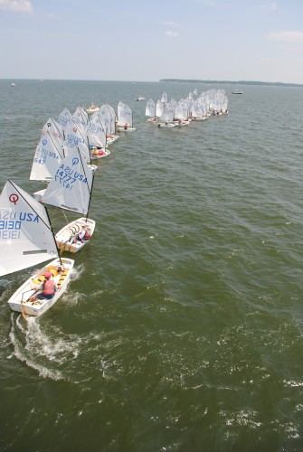 Opti Nationals Starting Line