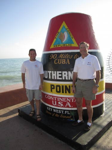 Jon and Lud at the Southern Most Point