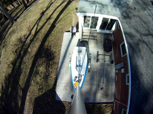 GoPro Top of Mast View