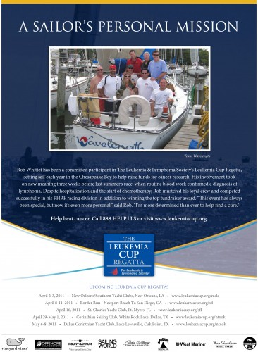 Sailing World April 2011 Leukemia Society Wavelength Ad