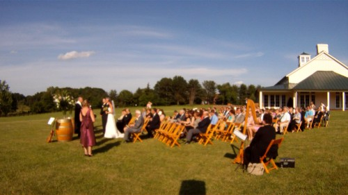 Beth & Chris Wedding Outside