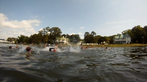 Start of the Oyster Shell Triathlon