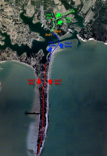 Oyster Shell Triathlon Course Map