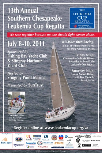 2011 Leukemia Cup Regatta poster