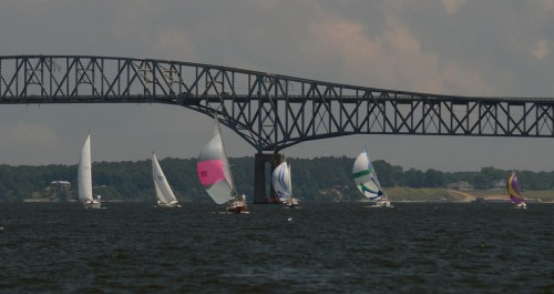 Racing under the Rappahannock River Bridge