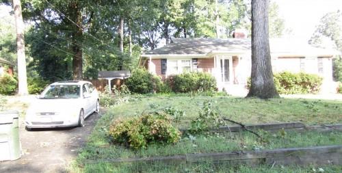 Front yard debris
