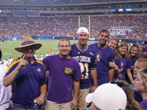 JG, Jon, Preston, Tom, Laura Ashley, Jen, Stephanie at the game