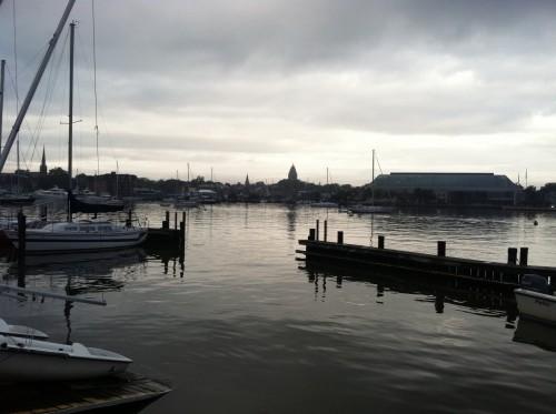 Still Annapolis Harbor Sunday morning